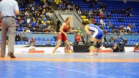 Torneo de lucha femenino en Kiev, Ucrania, metrajes