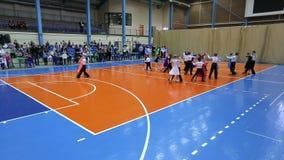 Torneo del ballo da sala dei bambini, al rallentatore stock footage