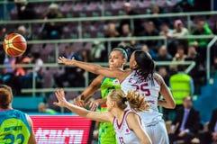 Torneo del baloncesto de las muchachas Imagen de archivo