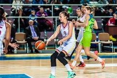 Torneo del baloncesto de las muchachas Fotografía de archivo libre de regalías