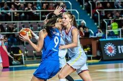 Torneo del baloncesto de las muchachas Fotos de archivo libres de regalías
