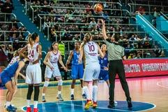 Torneo del baloncesto de las muchachas Foto de archivo libre de regalías