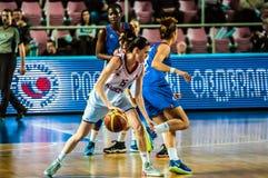 Torneo del baloncesto de las muchachas Fotografía de archivo