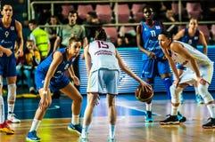 Torneo del baloncesto de las muchachas Foto de archivo