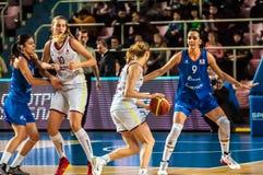 Torneo del baloncesto de las muchachas, Fotos de archivo libres de regalías