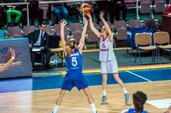 Torneo del baloncesto de las muchachas; Imagen de archivo libre de regalías