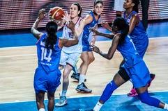 Torneo del baloncesto de las muchachas; Fotografía de archivo libre de regalías