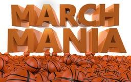 Torneo del baloncesto del NCAA del episodio maníaco de marzo Fotos de archivo