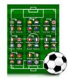 Torneo 2014 del fútbol Imagen de archivo libre de regalías