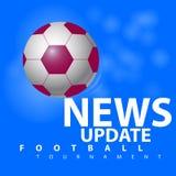 Torneo del fútbol de la actualización de las noticias imagen de archivo libre de regalías
