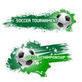 Torneo del fútbol del vector de la bola del fútbol del vuelo ilustración del vector