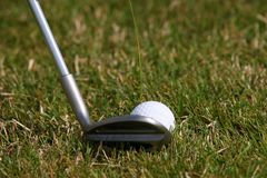 Torneo del golf - pelota de golf Foto de archivo libre de regalías