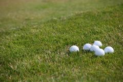 Torneo del golf - pelotas de golf Fotografía de archivo libre de regalías