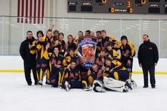Torneo del hockey de los muchachos de la juventud Foto de archivo libre de regalías