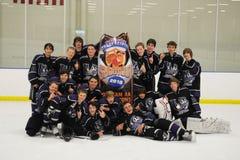 Torneo del hockey de los muchachos de la juventud Fotografía de archivo