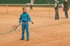 Torneo del niño del tenis Fotografía de archivo