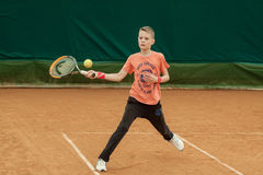 Torneo del niño del tenis Fotos de archivo