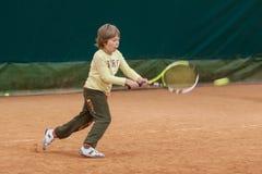 Torneo del niño del tenis Fotos de archivo libres de regalías