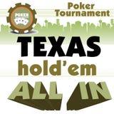 Torneo del póker Fotografía de archivo