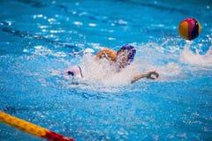 Torneo del ` s de las mujeres del water polo Foto de archivo libre de regalías