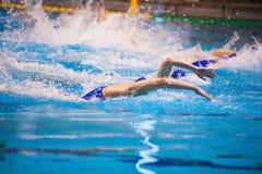 Torneo del ` s de las mujeres del water polo Foto de archivo