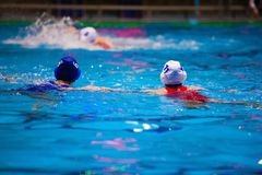 Torneo del ` s de las mujeres del water polo Imágenes de archivo libres de regalías