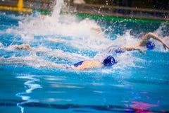 Torneo del ` s de las mujeres del water polo Imagen de archivo libre de regalías