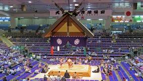 Torneo del sumo en Nagoya Imagen de archivo libre de regalías