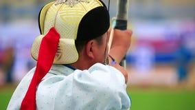 Torneo del tiro al arco del festival de Naadam metrajes