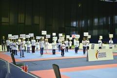 Torneo del wtf del Taekwondo foto de archivo libre de regalías