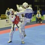 Torneo del wtf del Taekwondo Fotos de archivo libres de regalías