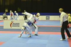 Torneo del wtf del Taekwondo Foto de archivo