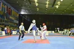 Torneo del wtf del Taekwondo fotografía de archivo libre de regalías