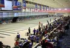 Torneo di bowling - stadio nazionale di bowling - Reno Nevada immagine stock