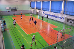 Torneo di calcio dell'interno Fotografia Stock