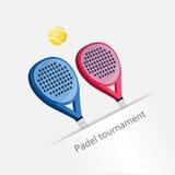 Torneo di Padel Fotografie Stock