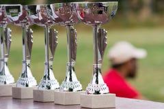 Torneo di tennis dei premi delle tazze immagine stock