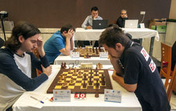 Torneo internacional del ajedrez Fotos de archivo