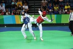 Torneo internazionale del Taekwondo - Rio 2016 eventi della prova - UZB contro IRI immagini stock