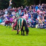 Torneo jousting medievale annuale al palazzo di Linlithgow, Scotla fotografie stock