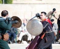 Torneo nei cavalieri di St Johns del castello, Malta Fotografia Stock