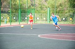 Torneo su mini-calcio Fotografia Stock