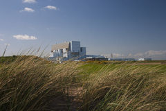 Torness Nuclear Power Station, Scotland. View of Torness Nuclear Power Station in Scotland over sand dunes and fields Stock Photography
