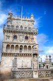 Tornet av Belém, Lissabon - Torre de Belém Arkivfoto