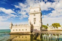 Tornet av Belem i Lissabon, Portugal Fotografering för Bildbyråer
