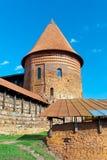 Tornet av den gamla fästningen i Kaunas lithuania Arkivfoton