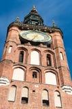 Tornet av stadshuset i Gdansk, Polen Royaltyfria Foton