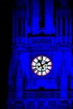Tornet av stadshuset i Wien iluminated under den sh livbollen Royaltyfri Fotografi