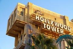 Tornet för skymningzon av hotellet för skräckHollywood torn fotografering för bildbyråer