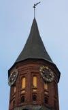 Tornet med ett fåfängt för väder royaltyfria bilder